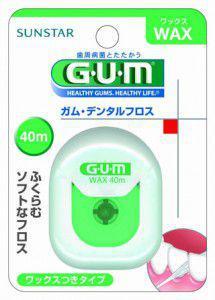 GUM(ガム)・デンタルフロス ワックスタイプ 40m