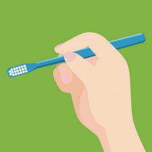 歯ブラシの持ち方