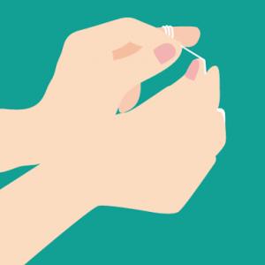 デンタルフロス 糸巻きタイプ 糸の張り方