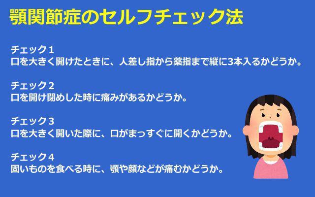 顎関節症・セルフチェック