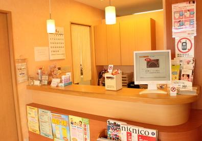 大杉中央歯科 受付・スタッフが笑顔で迎えてくれます