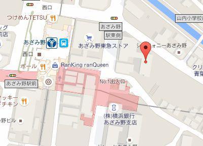 あざみ野アクア歯科クリニック.地図