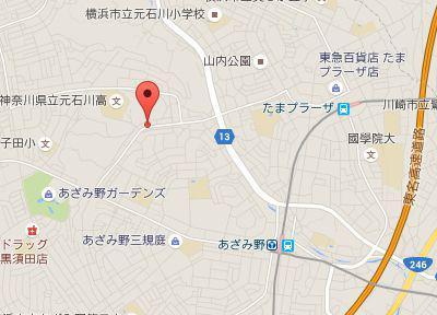 あざみ野フォレスト歯科.地図
