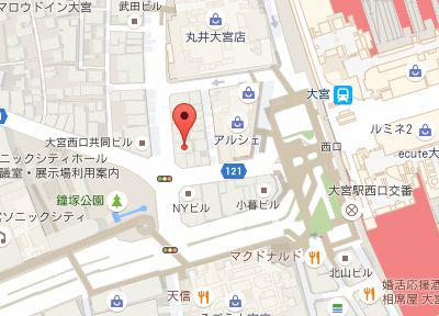 大宮西口駅前歯科.地図