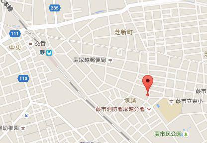 弦間歯科医院.地図