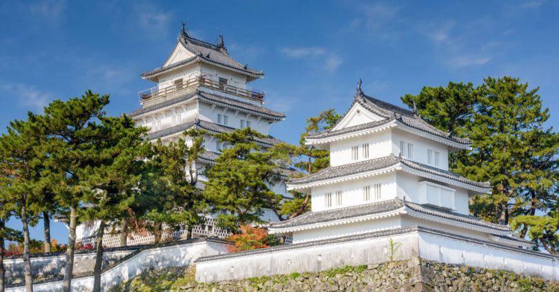 Shimabara Castle of Shimabara, Nagasaki, Japan.