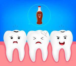 虫歯の原因イラスト