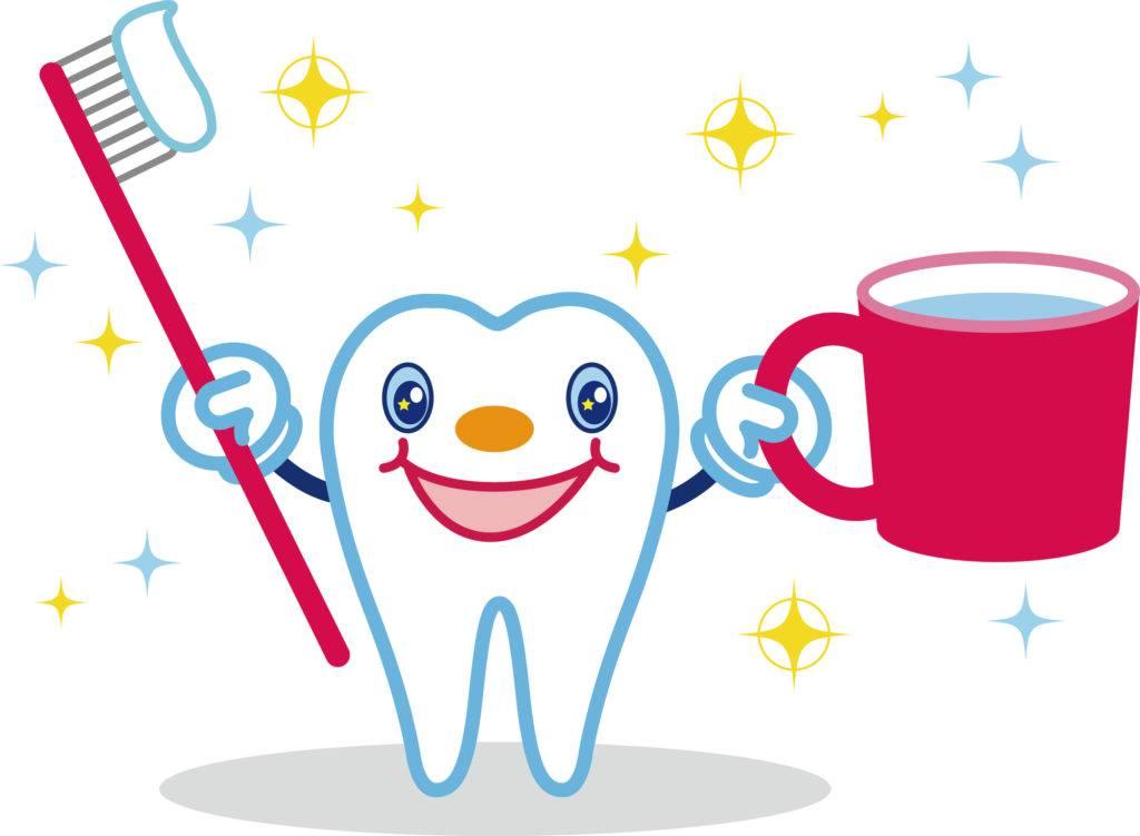 知覚過敏の対処法に毎日の歯磨きを勧めるイラスト
