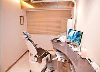 MAKI DENTAL OFFICE GINZA 個室診療室