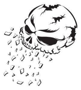 歯槽膿漏で骨が溶けるイメージ